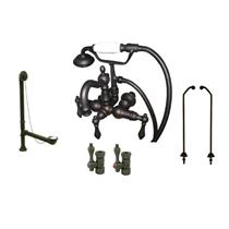Kingston Brass CCK1007T5B Vintage Claw Foot Tub Filler-Shower Mixer Kit - Oil Rubbed Bronze