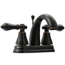 "English Classic 4"" Centerset Faucet - Noble Bronze Oil Rubbed Finish - Fauceture Model FS7616AL"
