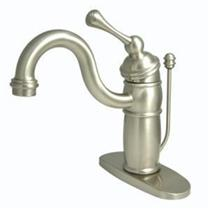 KINGSTON BATHROOM SINK FAUCET SATIN NICKEL KB1408BL