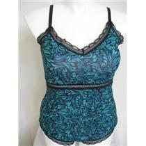 BodyForm DELTA BURKE Techno Print Cami Set Blue Grdn 1X