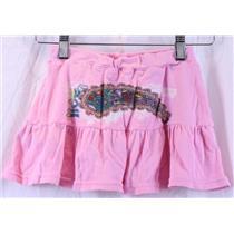 10 2BFree Girls Bubblegum Pink Rose Paisley Ruffle Mini Skirt w/Shorts SKORT EUC