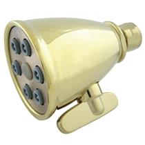 Kingston Brass Model# K138A2 Magellan Adjustable-Spray Solid Brass Shower Head - PVD Polished Brass