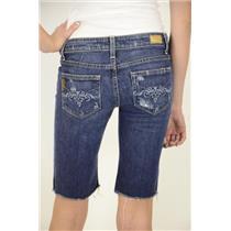 26 x 11 Authentic Paige Premium Denim Laurel Canyon Distressed Bermuda Short