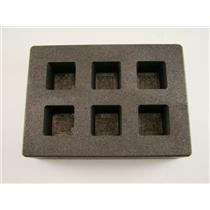 High Density Graphite Cube Mold 3oz Gold Bar Silver 6-Cavities Copper