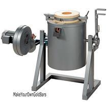 30 Kilo 2370 F  Natural/Methane Gas Tilting Furnace-Smelt/Melt Gold-Silver 1330C