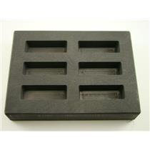 2 oz Gold KitKat Bar High Density Graphite Mold 1 oz Silver 6-Cavities Scrap