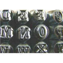 "Varsity Outline A-Z Letter +& Stamps-Punch-1/4""-6mm-Gold/Silver Bars-27pc Set"