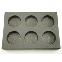 10 oz x 6 High Density Graphite Round Mold  6-Cavities - 5 oz Silver Bars