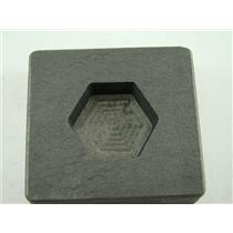 2 oz Hexagon Gold Bar High Density Graphite Mold 1 oz Silver