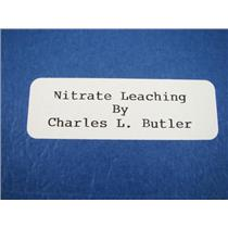"How To ""Nitrate Leaching"" Book by Charles L. Butler-Gold--Formulas-Drawings"
