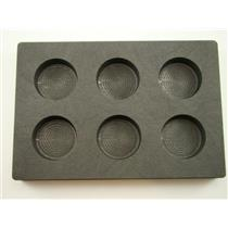 3 oz x 6 Round Gold Bar High Density Graphite Mold 6-Cavities - Silver Coins