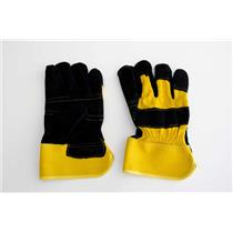 "1 Pair 10"" Leather Gloves-Safety-Furnace-Gold Melting-Smelting-Pouring"