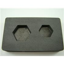 1 oz & 2 oz Gold Bar High Denisty Graphite Hexagon Mold Combo Loaf Silver