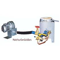 2370 F  Propane Gas Furnace W/Electric Blower-Smelt-Melting-Gold-Copper-Silver