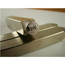 """.999FS"" 3/32"" - 2mm-Large Stamp-Metal-Hardened Steel-Fine Silver Bars"
