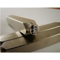 """""""Skull & Bones"""" 1/4""""-6mm-Large Stamp-Metal-Hardened Steel-Gold&Silver Bars"""