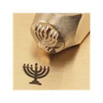 """Jewish Menorah""1/4""-6mm-Large Stamp-Punch-Metal-Steel-Gold&Silver Bars Copper"