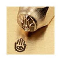 """Hand of Miriam Sign""1/4""-6mm-Large Stamp-Punch-Steel-Gold&Silver Bars Copper"