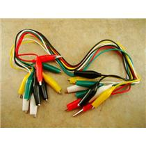 Lot of 10 pc Test Leads with Insulated Alligator Clips