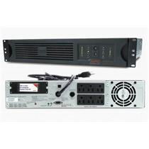 APC SUA1500RM2U SMART-UPS 1500VA 980W 120V USB RACKMOUNT BACKUP - NEW BATTERIES