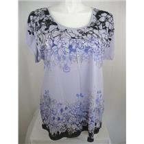 Cacique by Lane Bryant Plus Size Silk Screened Border Print Sleep Top