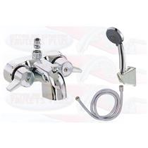 Chrome Clawfoot Tub Add-A-Shower With HandShower Kit