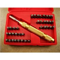 "1/8"" Deluxe Letter & Number Punch Stamp 38 pc Set w/Magnetic Spring Loaded Drive"