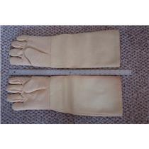 "1 Pair Professional Heat Gloves-Furnace Kiln Fire 22""  Gold Melt Safety"