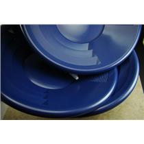 "Lot of 10-12"" Blue Gold Pans w/ Bottle Snuffer-Panning Kit-Prospecting-Mining"