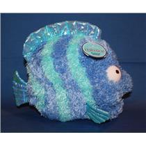 Hallmark Blue Lagoon Techno Plush 2006 Splasher - Blue Striped Fish - #BLG2006