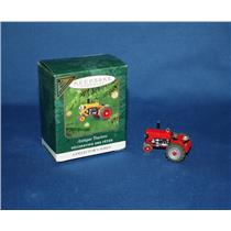 Hallmark Miniature Colorway / Repaint Ornament 2001 Antique Tractors - #QXM5252C
