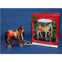 Hallmark Colorway / Repaint Ornament 1999 A Pony for Christmas - #QX6299C