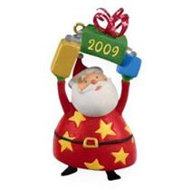 Hallmark Miniature Series Ornament 2009 Festive Santa #1 - Santa Claus #QXM9042