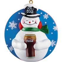 Carlton American Greetings Ornament 2012 Coca-Cola Snowman - #CXOR072B