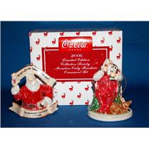2006 Coca Cola Limited Collector's Society Members Porcelain Ornament Set CPRSET