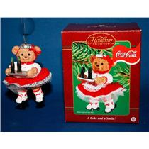 Carlton Ornament 2002 A Coke and a Smile - Coca-Cola Girl Server - #CXOR053G-SDB