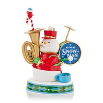 Hallmark Keepsake Magic Ornament 2013 One Snowman Band - #QXG1782