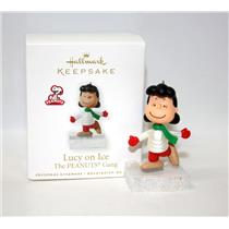 Hallmark Miniature Ornament 2010 Lucy on Ice - Peanuts Gang - #QRP4743-SDB