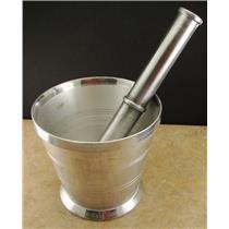 Aluminum Alloy Mortar Pestle Rock-Ore Crusher-Pulverizer-Assay-Gold-Quartz