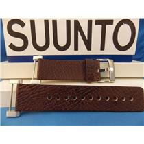 Suunto Watch Band Core Brown Leather. Steel buckle/Hardware w Attaching T-Bars