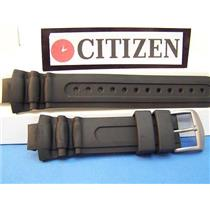 Citizen Watch Band Aqualand BN0015 Black Rubber Strap. Case Back # E168-S043271