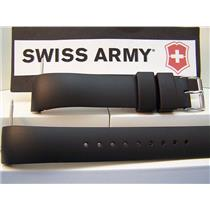 Swiss Army Watch Band Alliance Curved End Man's 20mm.Black Resin Strap.Watchband