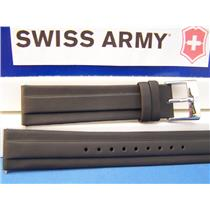 Swiss Army Watch Band 1884 Black Resin 20mm w/pins