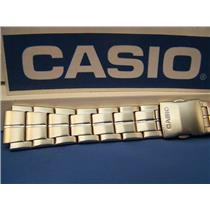 Casio Watch Band AQF-100 WD Steel Bracelet Silver Tone For Tide Graph Watch
