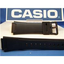 Casio watch band AW-37 Black Resin Strap. Watchband