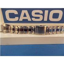 Casio Watch Band AQF-102 WD-1 Bracelet All Steel Silver Tone w/Push Button buckle