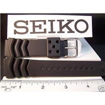 Seiko Watch Band Heavy Duty Divers Black Resin 22mm.Two-Piece Strap. Sport Strap