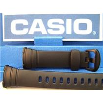 Casio Watch Band WVA-107 or WVA-107H Original Waveceptor Black Resin Strap