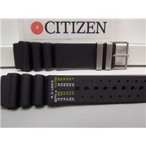 Citizen Watch Band Aqualand 21mm Silver Tone Hardware Printed Register in Meters