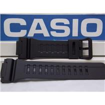Casio Watch Band AQ-S810 & W-735 Black Rubber Strap for Tough Solar Illuminator